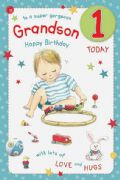 Grandson Age 1 Birthday Card